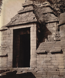 Entrance porch of the mahamandapa of Temple No. 8, Telkupi, Manbhum District.